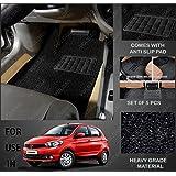 Volga Heavy Duty Anti Slip Noodle Nomad Style Car Floor Mats Set Of 5 Black For Tata Tiago