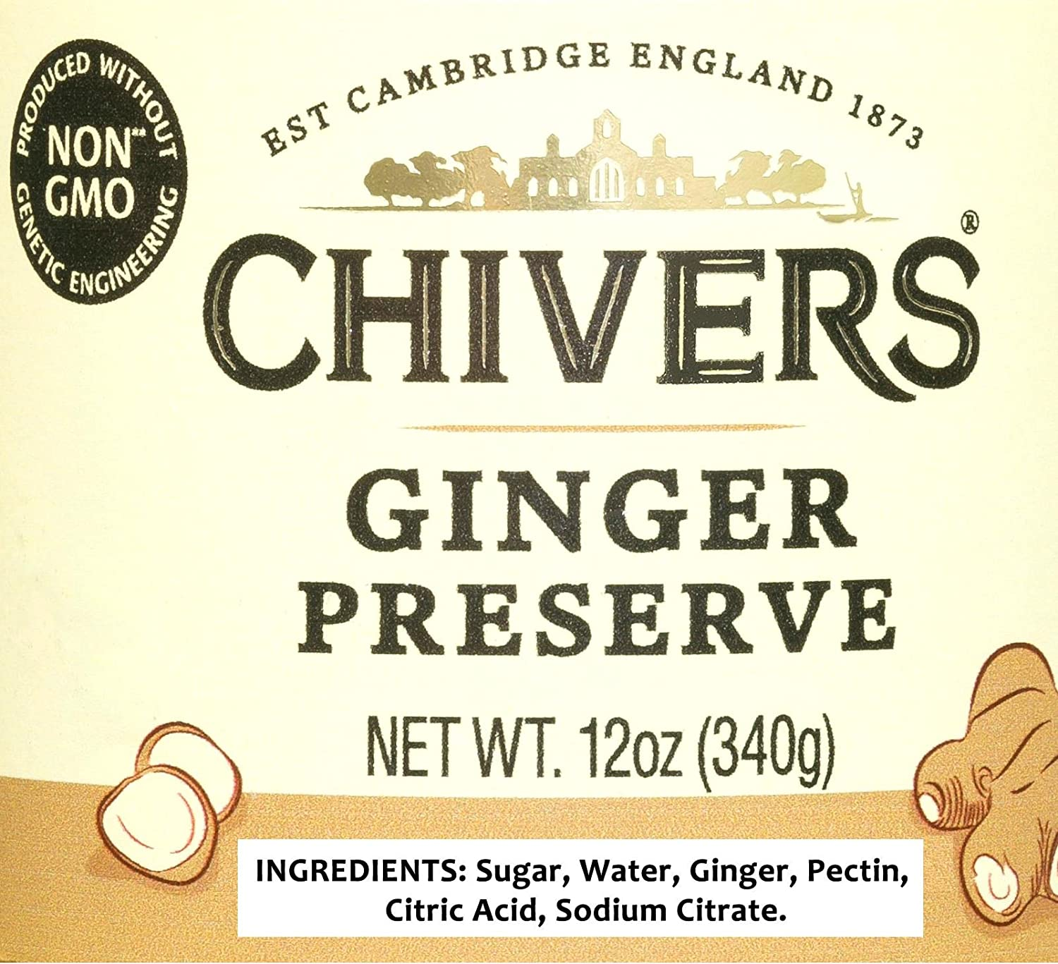 Amazon.com : Chivers UK Ginger Preserve, 12 Ounce : Grocery & Gourmet Food
