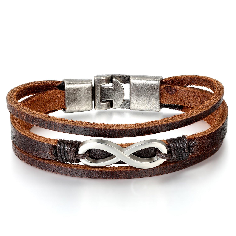 b6ff066de008 JewelryWe Joyería 2pcs Pulseras de Hombre Mujer