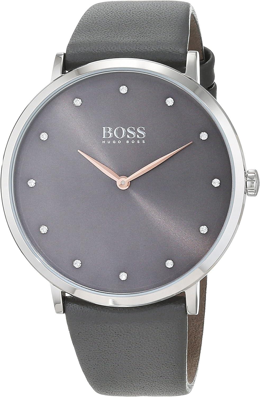 Hugo BOSS Reloj Análogo clásico para Mujer de Cuarzo con Correa en Cuero 1502413