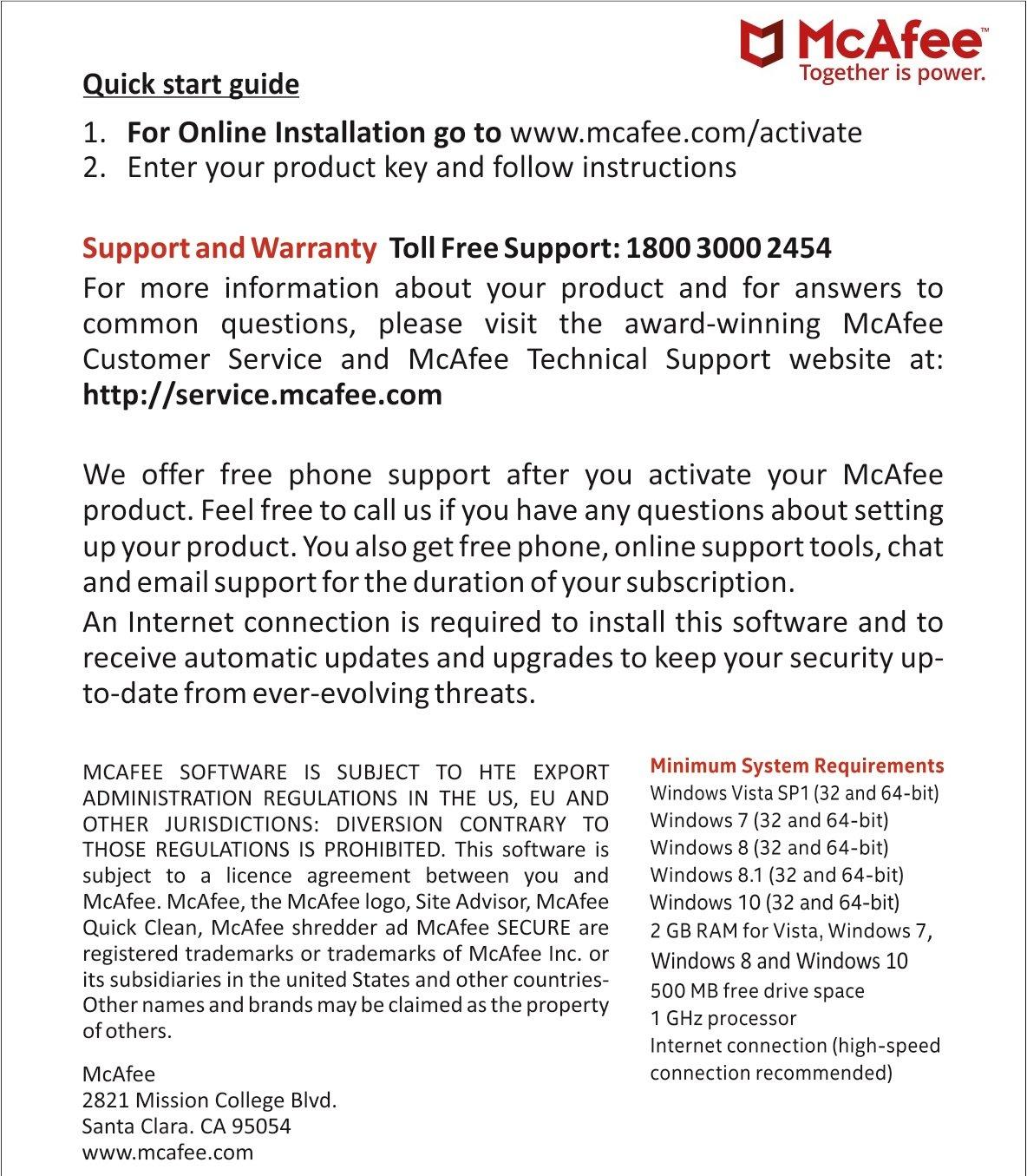 Mcafee anti virus 1 pc 1 year activation key card amazon mcafee anti virus 1 pc 1 year activation key card amazon software fandeluxe Choice Image