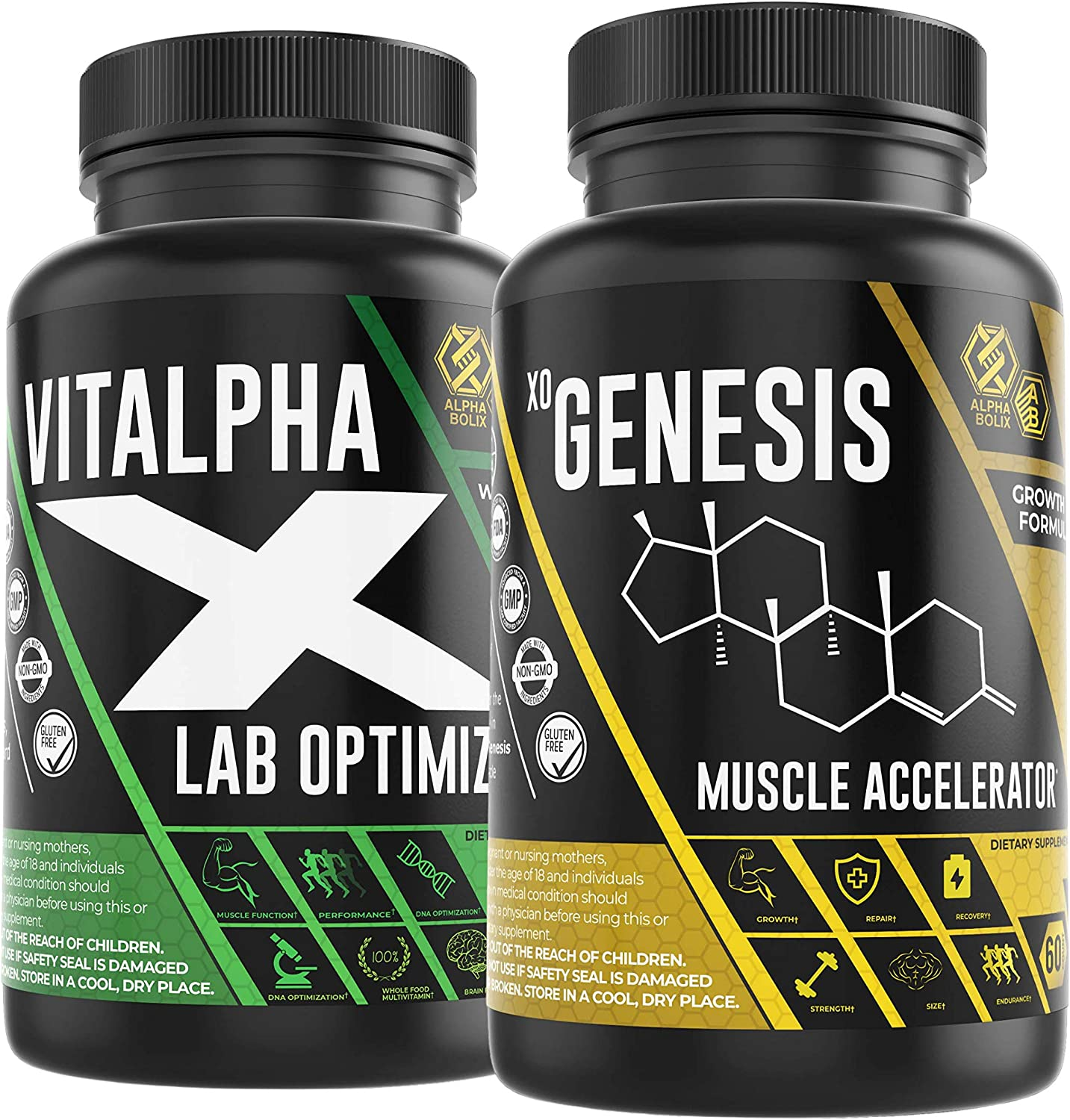 Whole Food Mens Multivitamin - Vitamins, Minerals, Vegetables and Fruits Plus Advanced Muscle Builder - Formulated with AAKG, L-Phenylaline, Citrulline Malate and L-Arginine