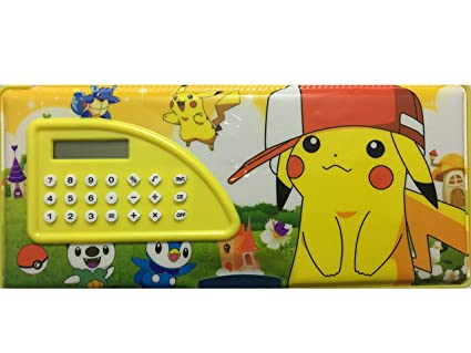 Buy Bee Ess Yellow Pikachu Pokemon Pencil Box with Calculator Online