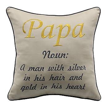 Amazon.com: YugTex - Fundas de almohada, Nana y papá, Nana y ...