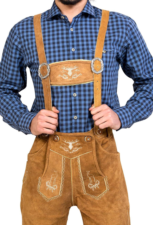 Almwerk Pantalon traditionnel en cuir pour homme