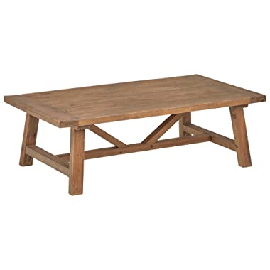 Stone & Beam Standard Farmhouse Coffee Table, 55.1 W, Wood