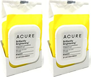 product image for Acure Coconut + Argan Oil Cleansing Towelettes for Face and Body Pack of 2 (60 Towelettes Total)