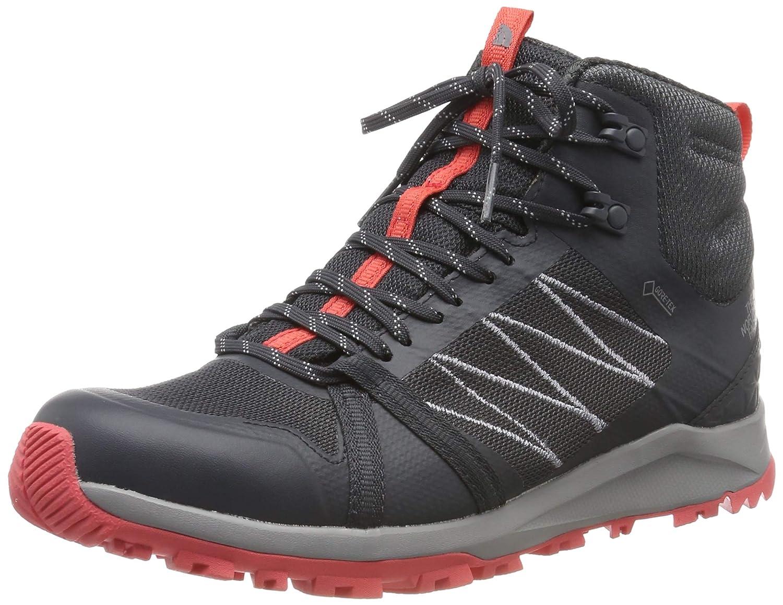 gris (Ebony gris Fiesta rouge C40) 38 EU The North Face W LW FP II Mid GTX, Chaussures de Randonnée Hautes Femme