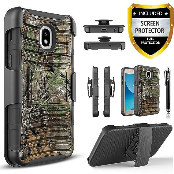 size 40 91916 d78ea Circlemalls Combo Holster Cover Phone Cases for Samsung Galaxy J7 Refine/J7  2018/J7 V 2nd Gen/J7 Aero/J7 Eon/J7 Star/J7 Crown/J7 Aura/J7 Top, with ...