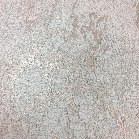 Arlo Texture Papier Peint Metallise Gris Or Rose Amazon Fr Cuisine Maison