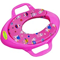 BabyGo Soft Cushion Potty Trainer Comfortable Seat with Support Handles (Pink)