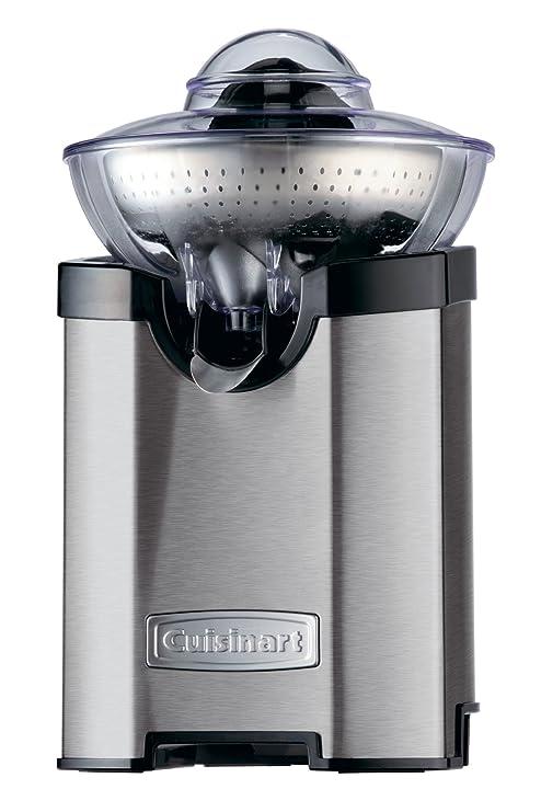 Cuisinart CCJ210E Exprimidor de Acero Pulido con función Turbo, 1000 W, Negro y Plateado