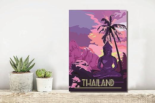 TX310 Vintage 1950/'s Thai Airways Thailand Orient Travel Poster A1//A2//A3//A4