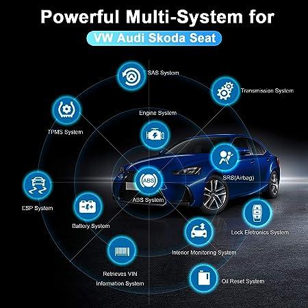 Autophix 5600 Obd2 Diagnosegerät Für Volkswagen Vw Audi Skoda Seat Auto Auslesegerät Diagnose Scanner Mit Abs Epb Tpms Tps Reset Batterie Für Obdii Fahrzeuge In Deutsch Auto