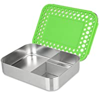 LunchBots Bento Trio LARGE All Stainless