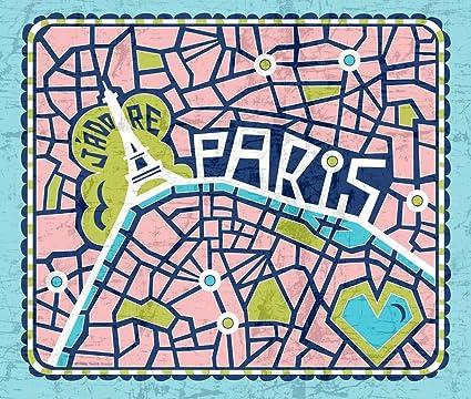 Trapo de cocina (Tejido – J adore Paris toalla de té – mapa torre