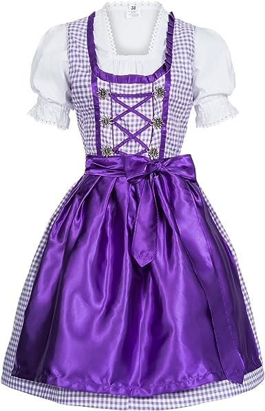 Du set costumes robe 3 pièces Oktoberfest Costume Robe Chemisier Tablier