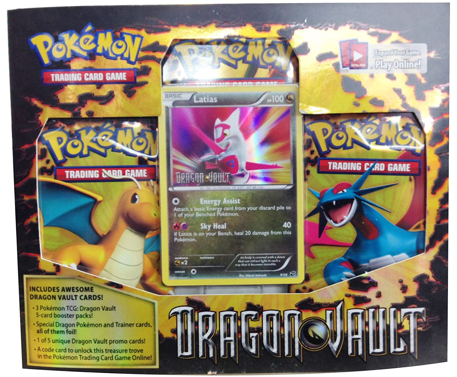 Pokemon Latias  Card Game Dragons Vault Special Edition 3Pack [1 Booster Packs & 1 Promo Card]
