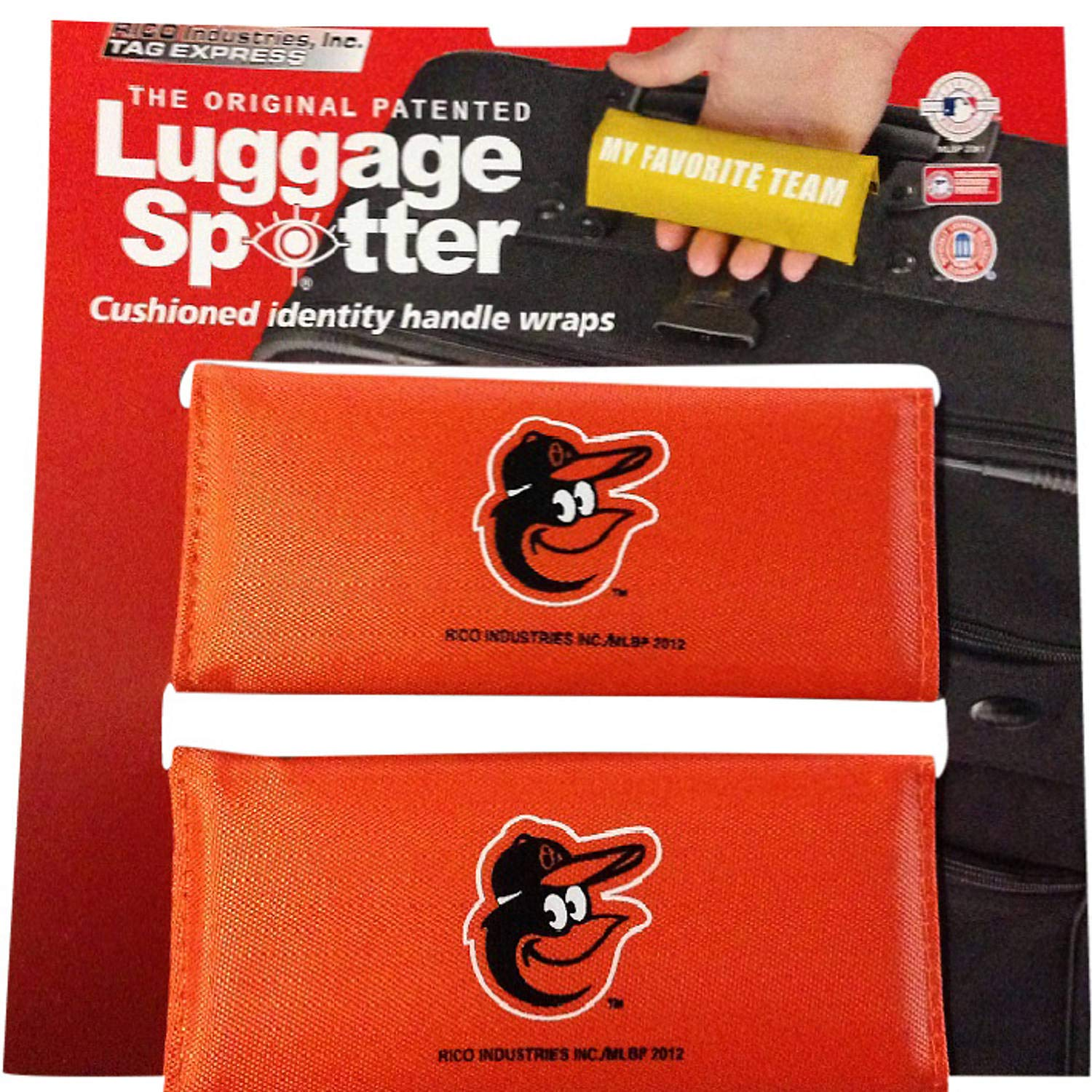 BUY ONE GET ONE FREE! ORIOLES Luggage Spotter Suitcase Handle Wrap Bag Tag Locator with I.D. Pocket (4-pack) - CLOSEOUT! SELLING FAST! China BALTORIOLES