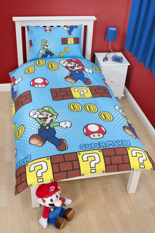 Super Mario Bedroom Character World Nintendo Mario Brothers Single Rotary Duvet Set