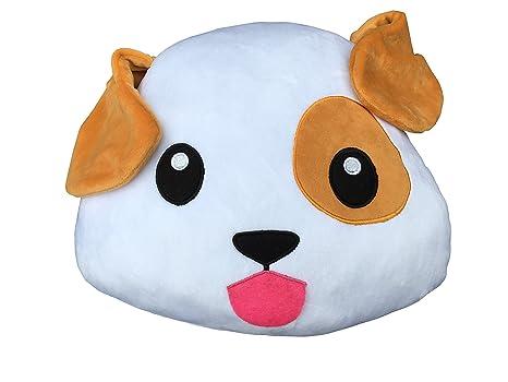 Desire Deluxe Cojín Emoticono Cachorro Sonriente - Almohada o Peluche Emoji Cariñoso en Forma de Emoticon Cachorro 100% de Satisfacción o Devolución ...