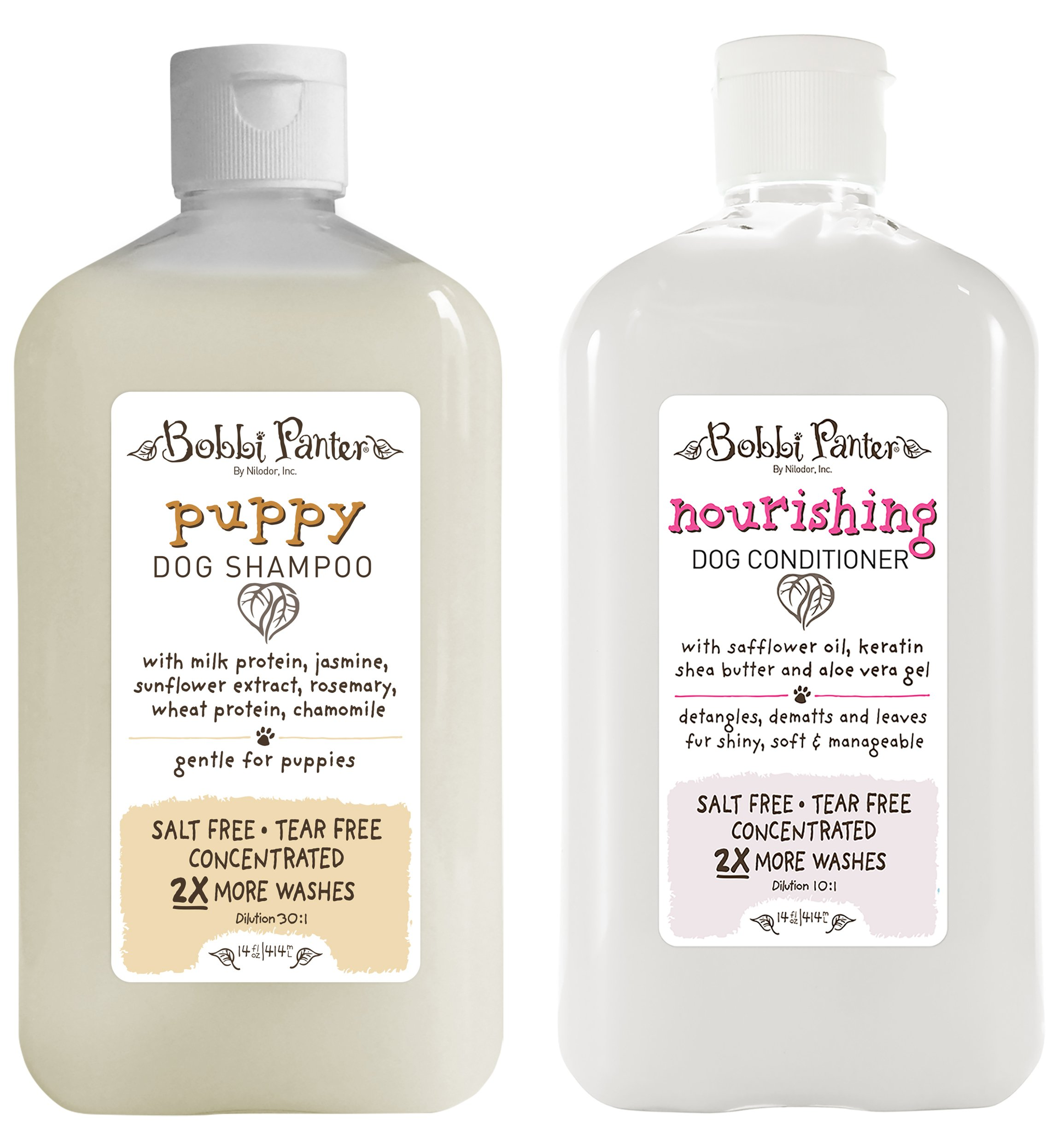 Bobbi Panter Natural Puppy Dog Shampoo and Nourishing Conditioner by Bobbi Panter