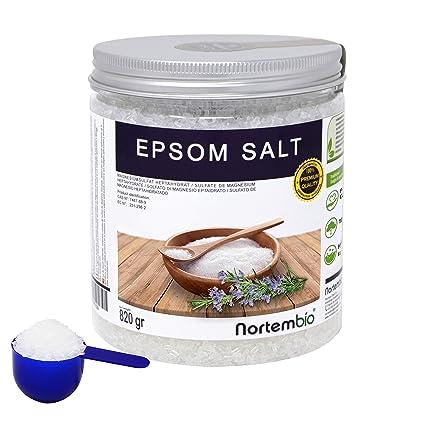 NortemBio Sal de Epsom 820g, Fuente concentrada de Magnesio, Sales 100% Naturales.