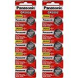 [ 10 pcs ] -- Panasonic Cr2032 3v Lithium Coin Cell Battery Dl2032 Ecr2032 ( Pack of 10 )