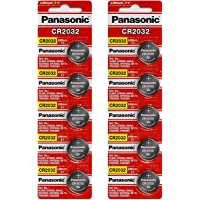 [ 10 pcs ] -- Panasonic Cr2032 3v Lithium Coin Cell Battery Dl2032 Ecr2032 ( Pack of 10 )