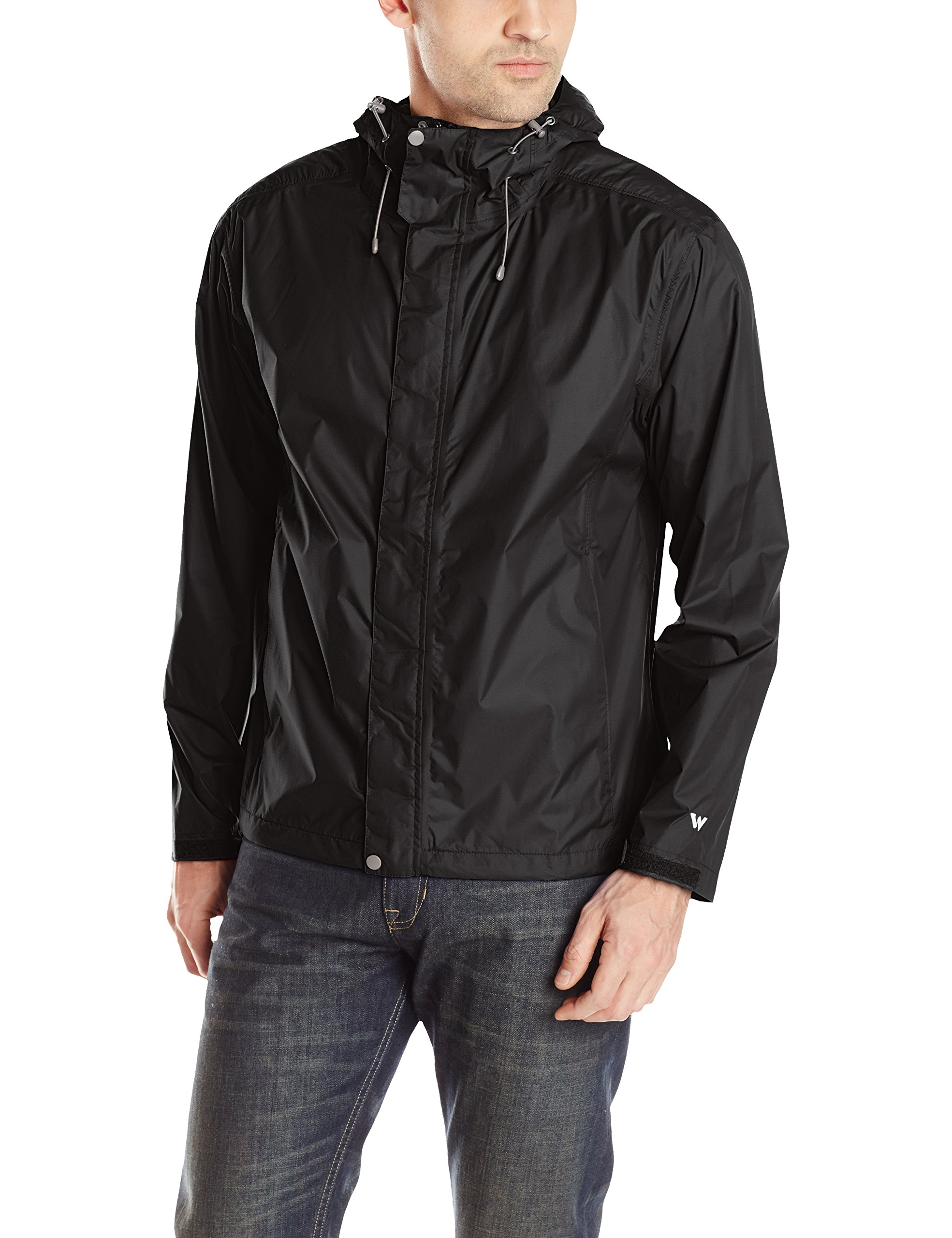 White Sierra Men's Trabagon Rain Shell, Black, Large by White Sierra