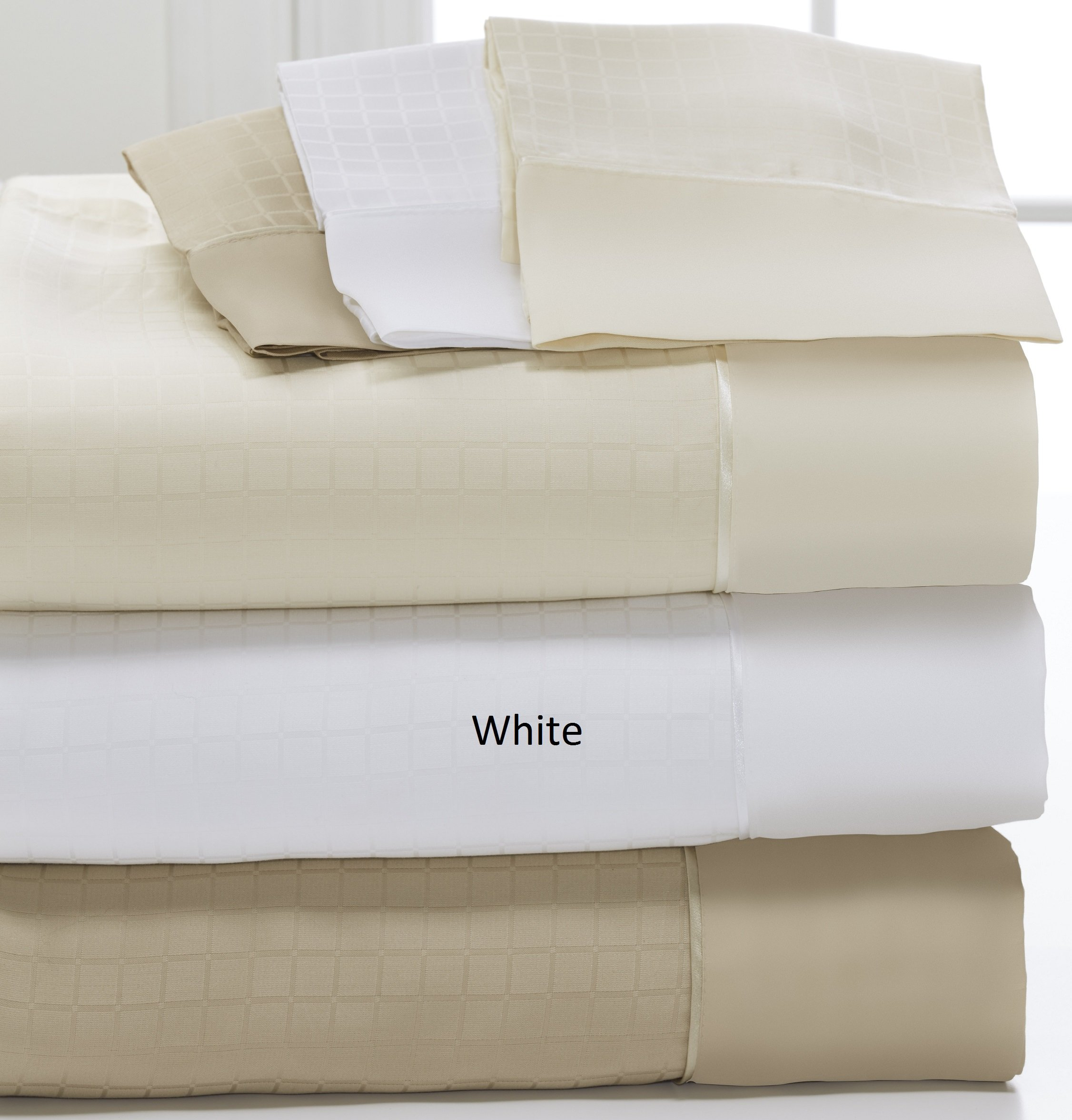 DreamFit Degree 6 MicroTencel / Supima Cotton Luxury Sheet Set (Split California King, White)