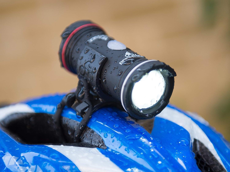 Linterna dual para casco de bicicleta