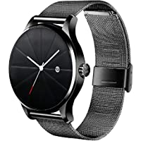 Hanylish Reloj de Pulsera para Hombre, Análogo, Elegante, Formal, Minimalista, Moderno, Correa Tipo Malla de Acero…