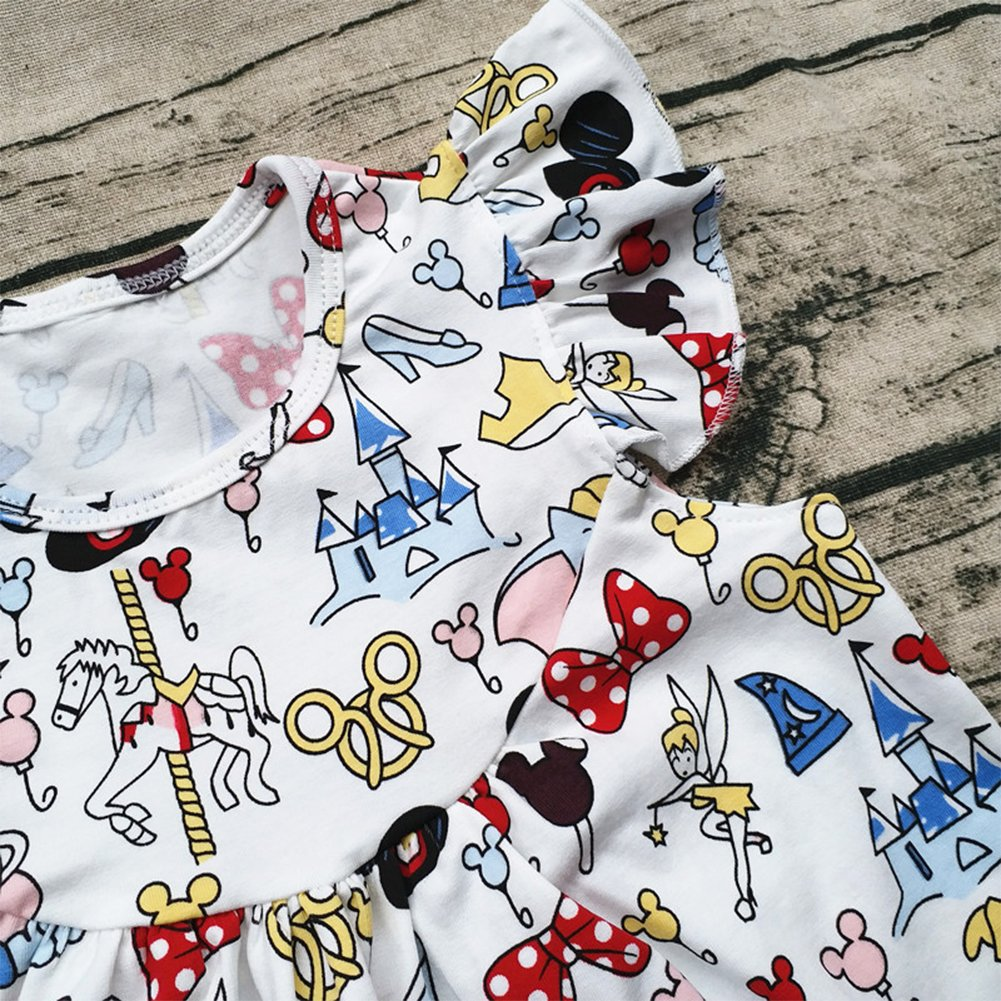 Aiqqwit Baby Girl Flutter Mickey Pearl Top with Icing Shorts Set Baby Spring Summer Boutique Clothing