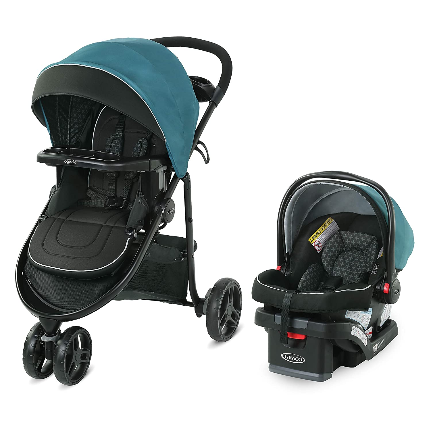 Graco Modes 3 Lite DLX Travel System Includes Modes 3 Lite DLX Stroller and SnugRide SnugLock 30 Infant Car Seat