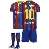 AMD SPORTS Barca Camiseta para niños Messi Viene con Pantalones Cortos y Calcetines, edición hogar Tallas para niños (3…