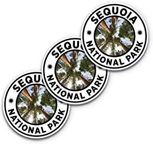 5x5 Sequoia National Park Sticker 3-Pack, 100% Waterproof, National Parks Stickers, Sequoia National Park, National Park Stickers