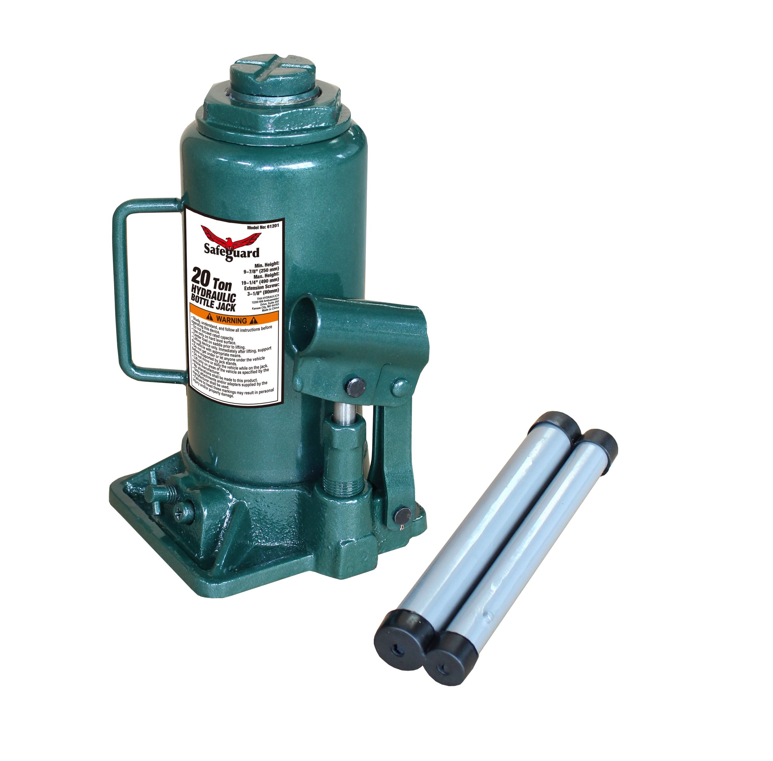 Strong Hold 61061 20 Ton Casted Bottle Jack, Green