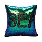 Amazon Price History for:Idea Up Reversible Sequins Mermaid Pillow Cases 4040cm with magic mermaid sequin (mermaid green and black)