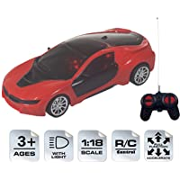 WISHKEY 1:18 Scale Remote Control High Speed Racing Car Toy with LED Lights