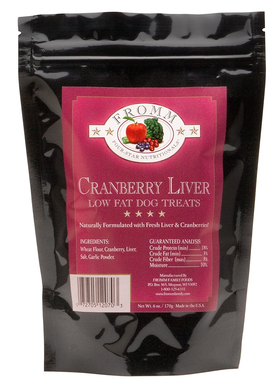 Fromm Training Cranberry Liver Dog Treats 6 oz