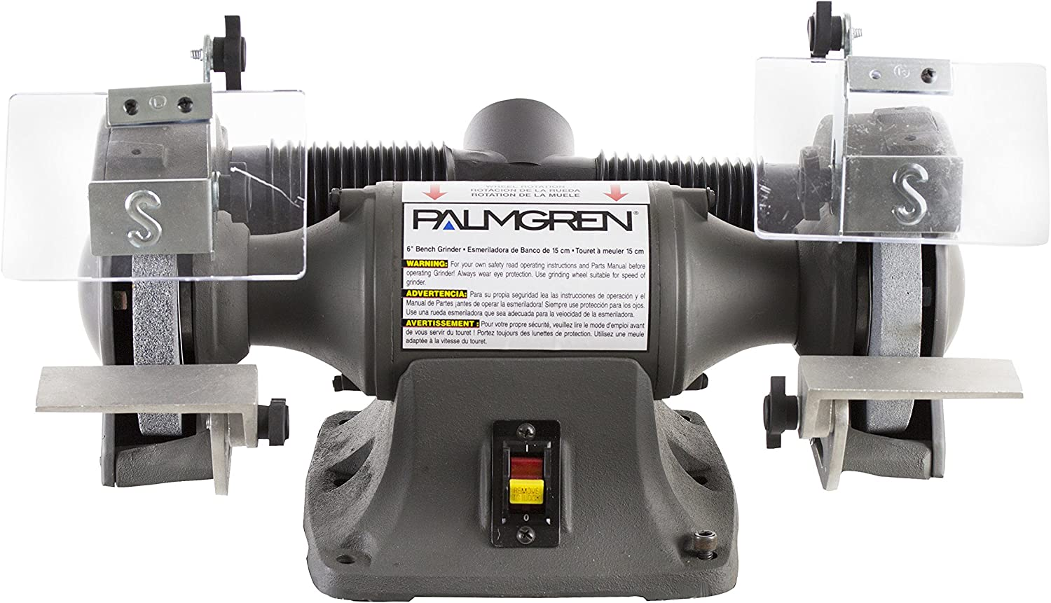 Palmgren 82062 6 1 3 hp 115 230V Grinder with Dust Collection