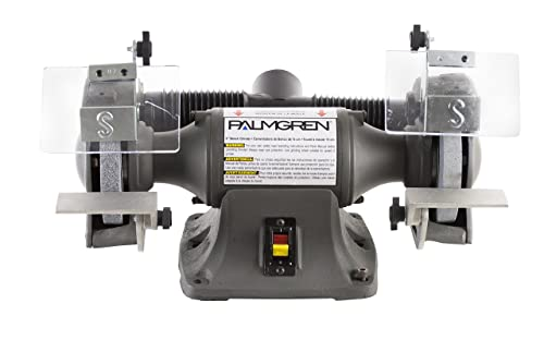 Palmgren 82602 1 3HP, 115 230V POWERGRIND Bench Grinder with Dust Collection, 6-Inch