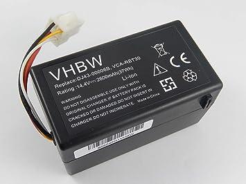 vhbw Batería Li-Ion 2600mAh (14.4V) para robot aspidador ...
