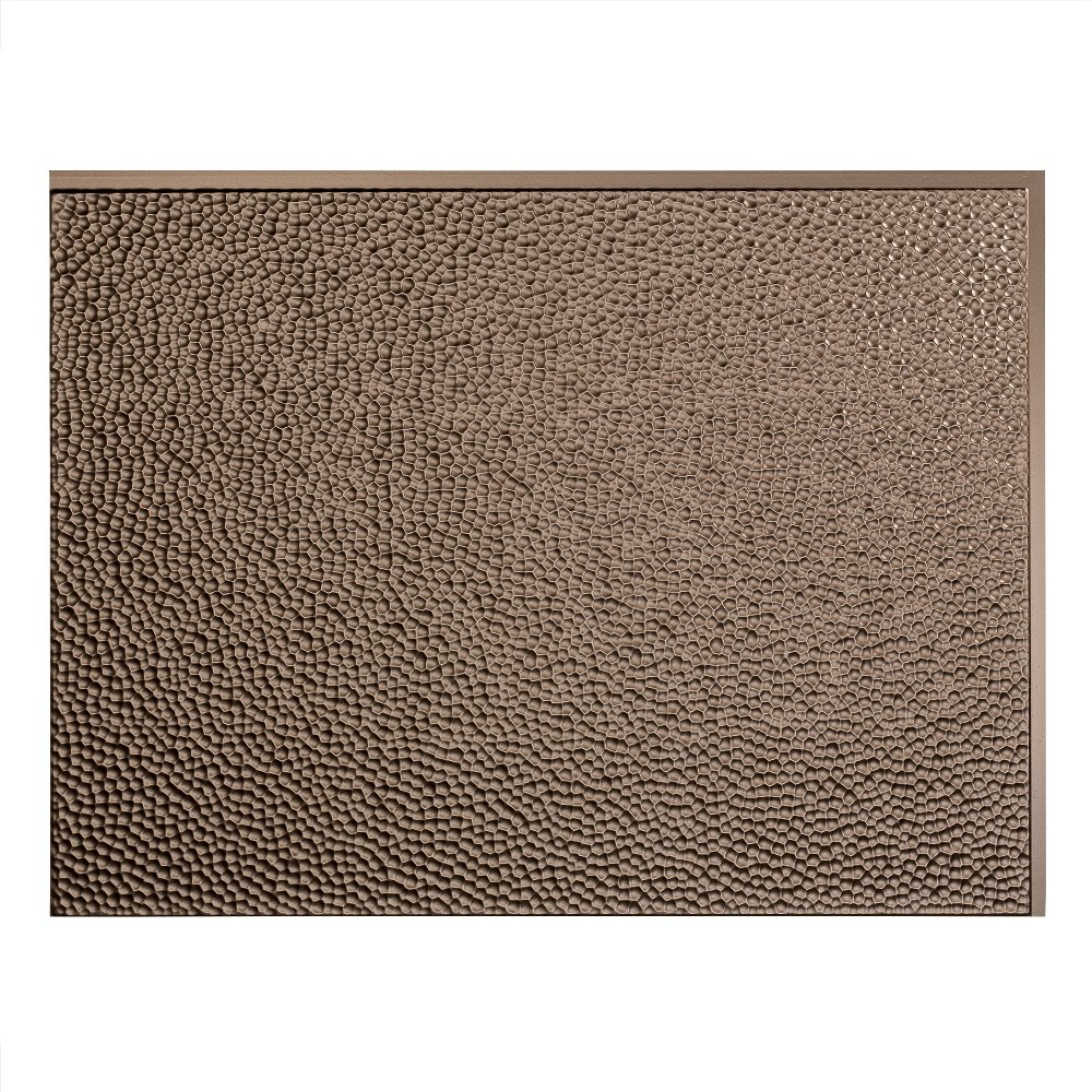 Fasade Easy Installation Hammered Argent Bronze Backsplash Panel for Kitchen and Bathrooms (18 sq ft Kit) by Fasade