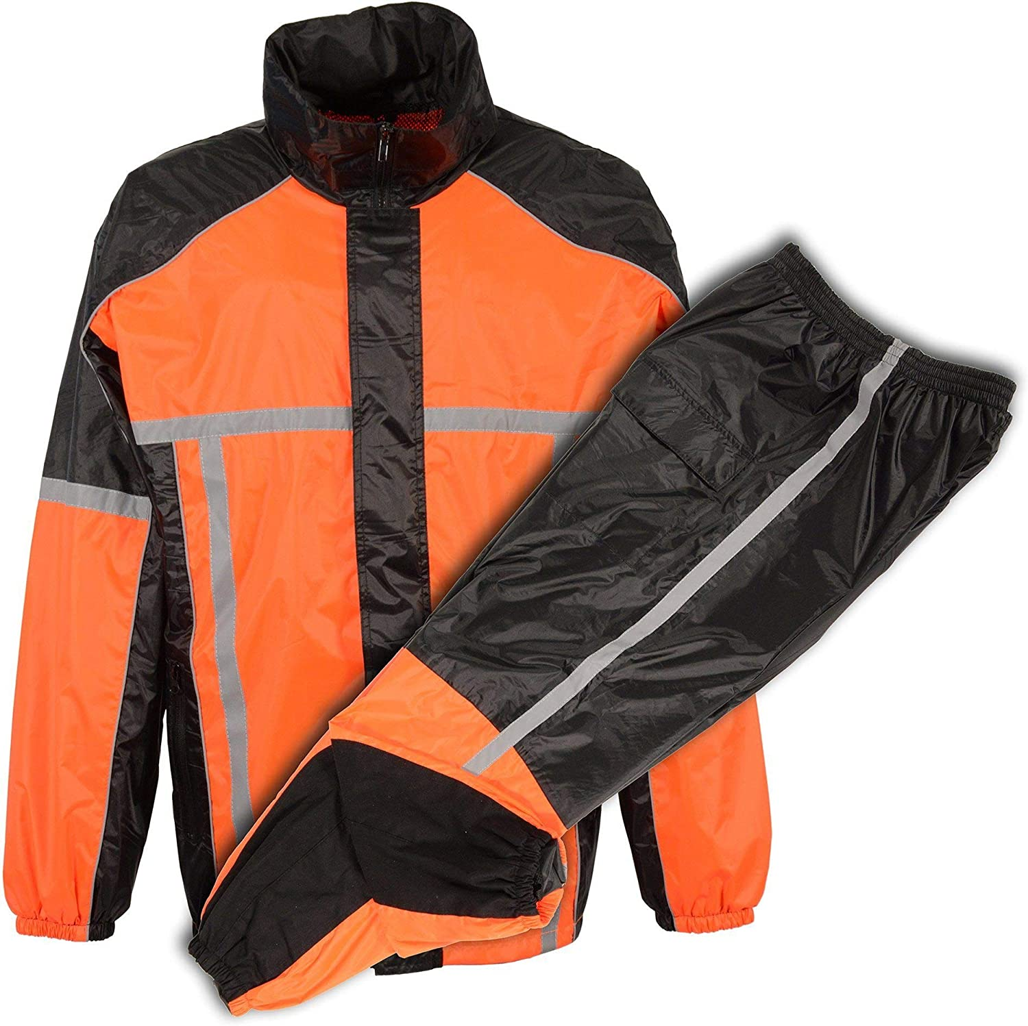 Milwaukee Performance Men's Water Resistant Rain Suit with Reflective Tape