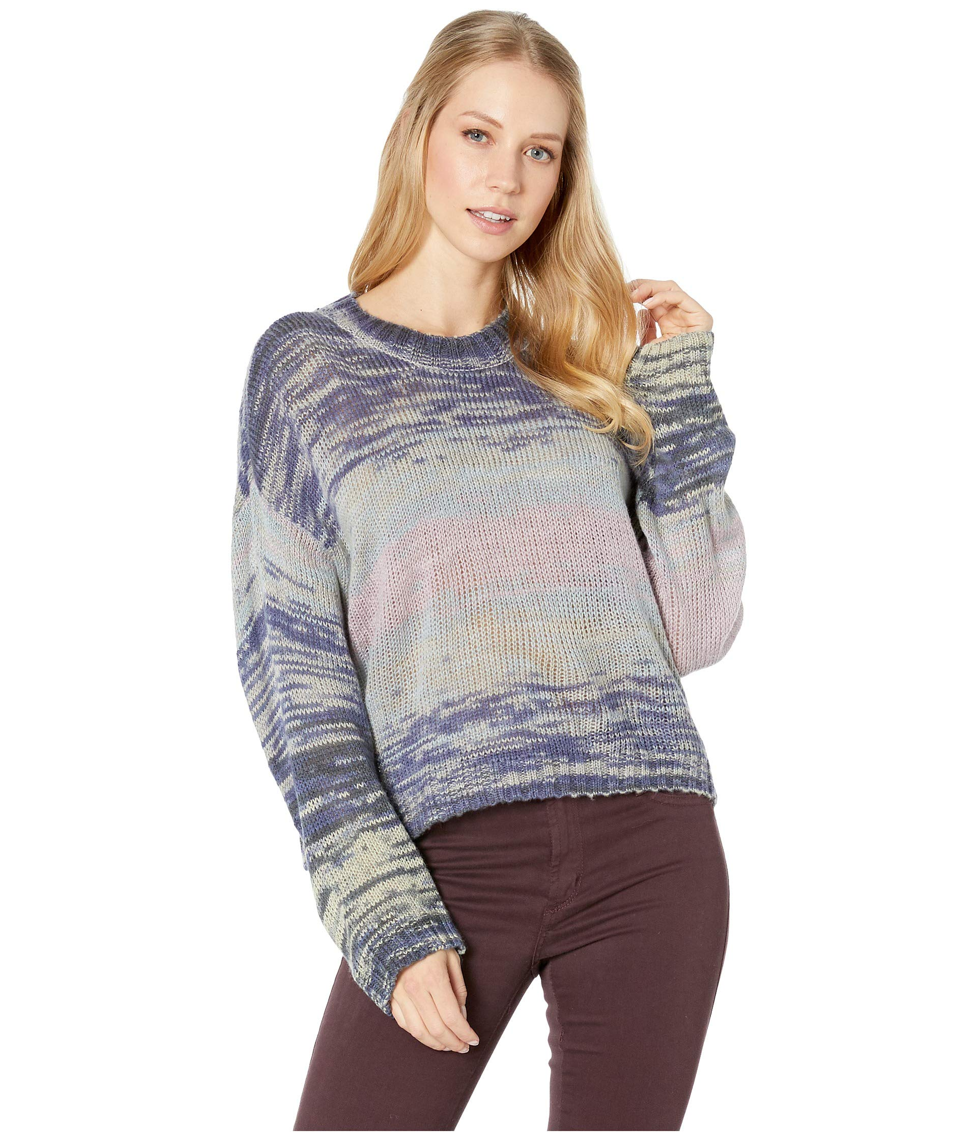 Volcom Womens Daze Go by Dolman Crew Neck Sweater, Multi, Extra Small by Volcom