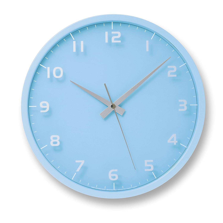 Lemnos nine clock 電波時計 ライトブルー LC08-14W LBL B001NDP7K6 ライトブルー ライトブルー