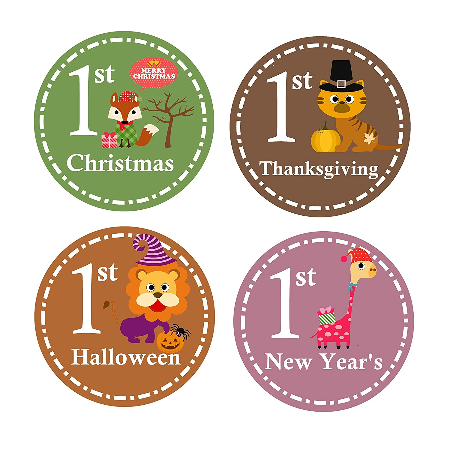 Baby's First Christmas - Baby Christmas Gift - Baby Milestone Stickers