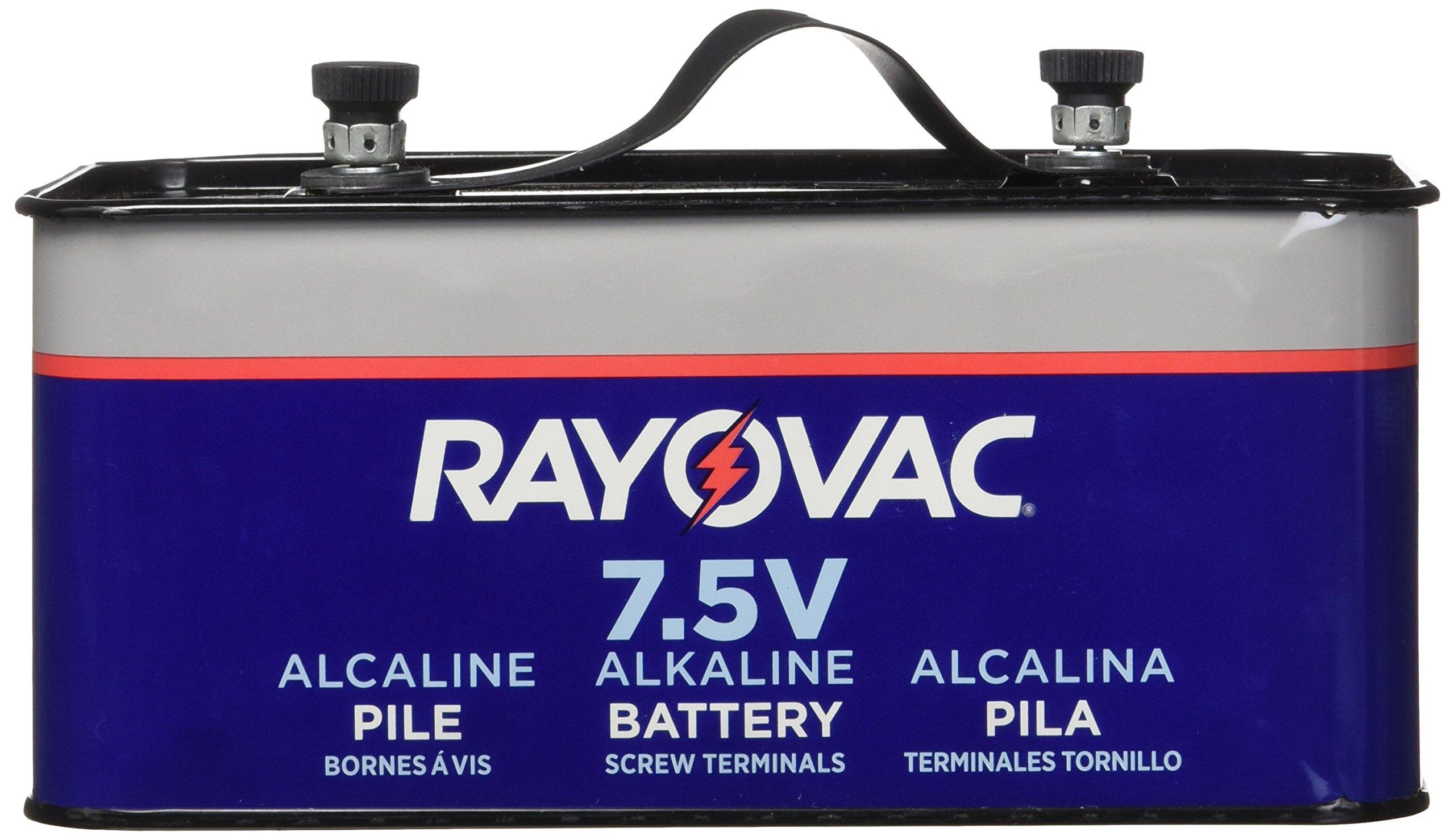 RAYOVAC Lantern Battery, 7.5 Volt Screw Terminals, Alkaline Emergency, 803C